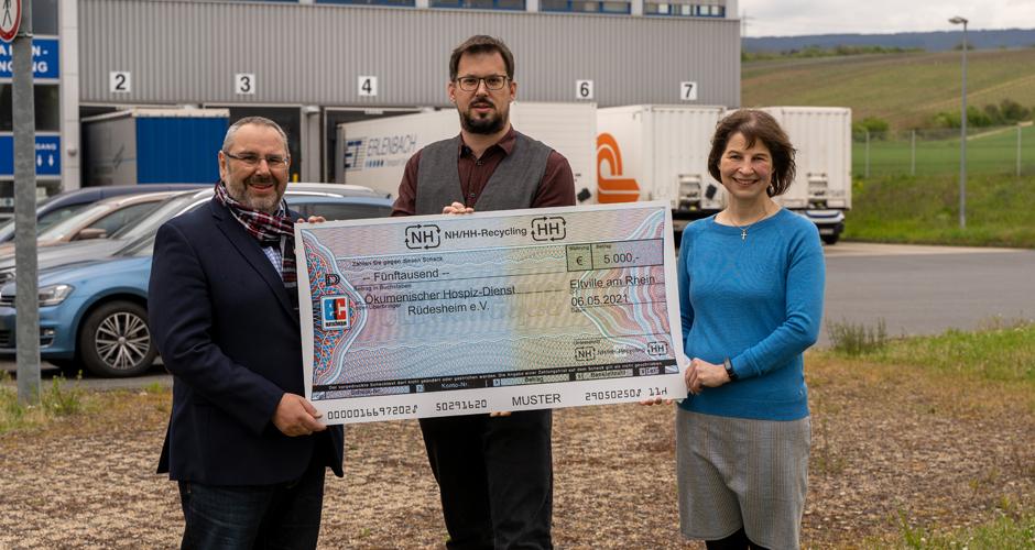 NH/HH Recycling Association donates 5.000 euros